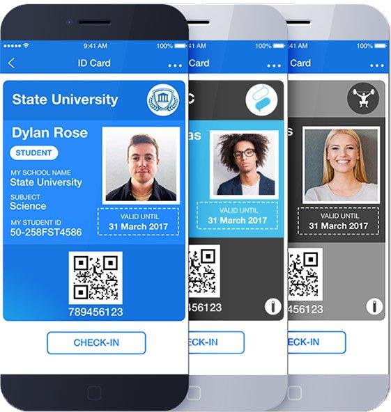 Student ID, Employee ID and Membership ID
