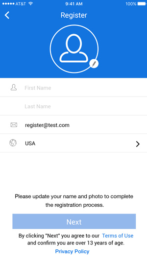 Complete your profile