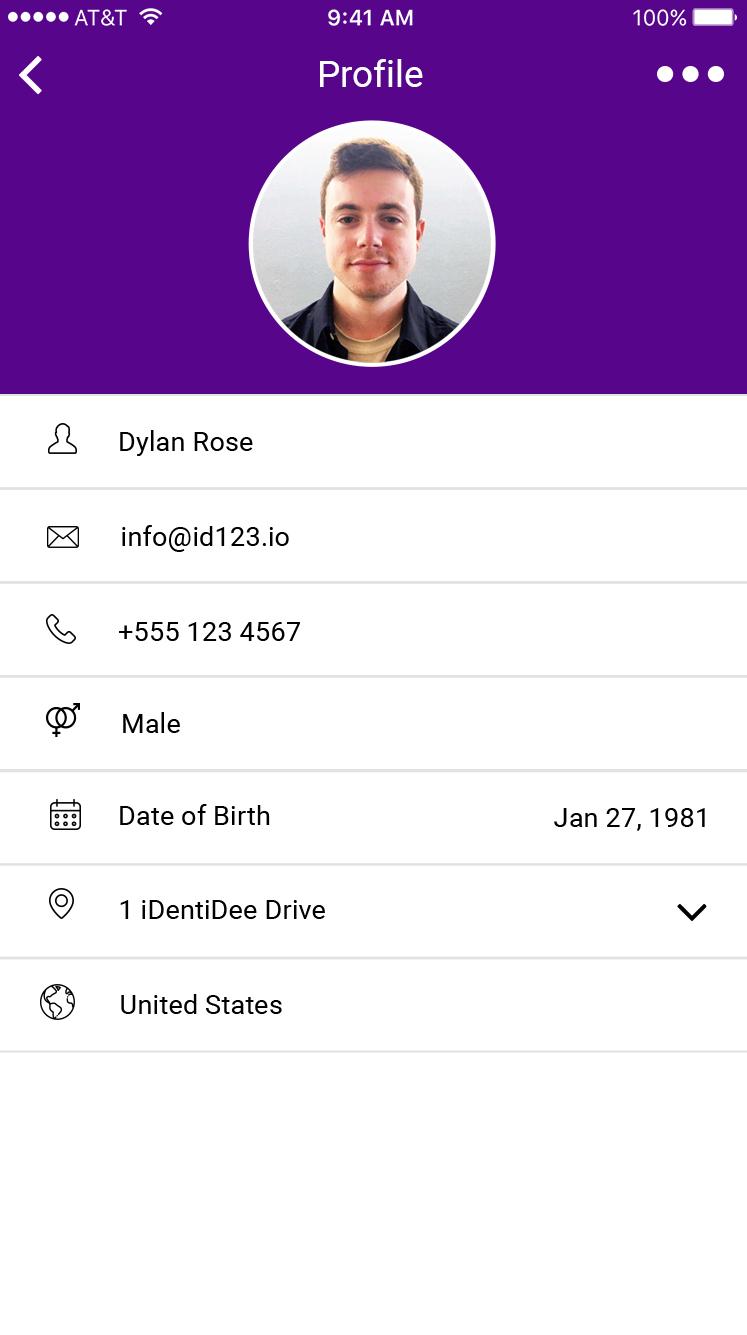 Student ID App - Profile