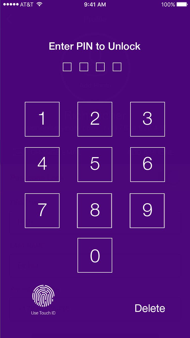 app - Unlock
