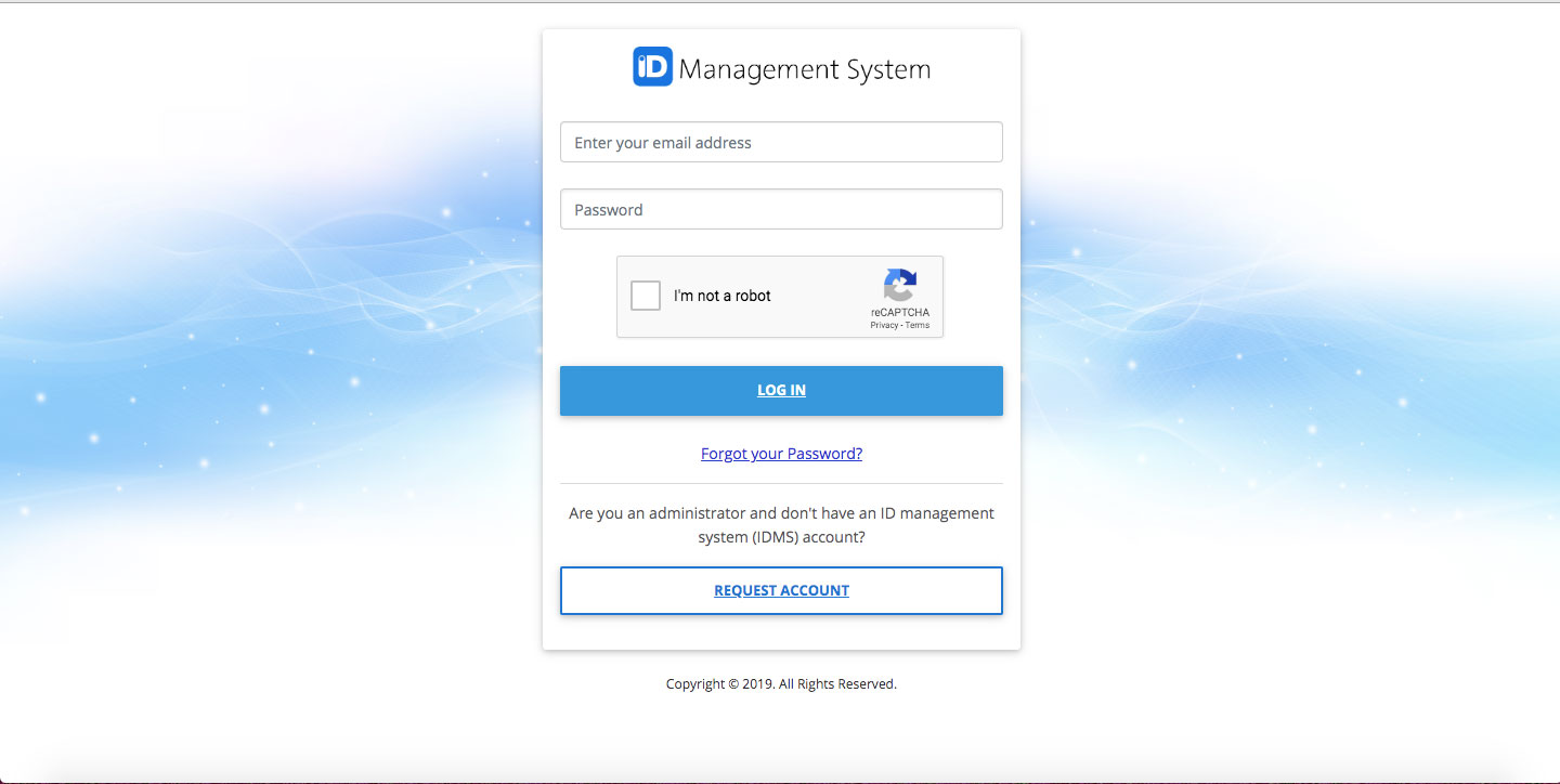 log in IDMS