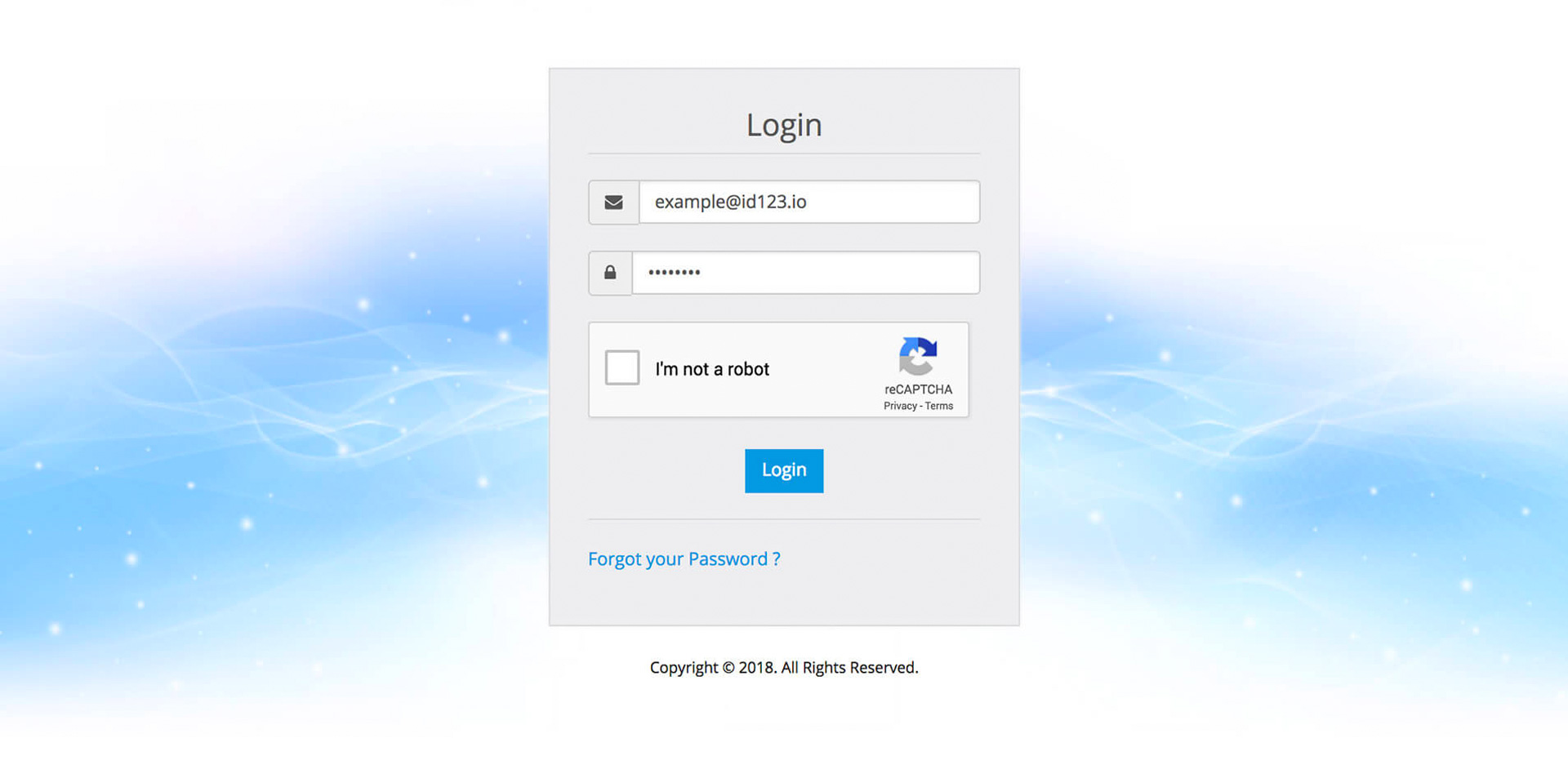 Sign into your IDMS account