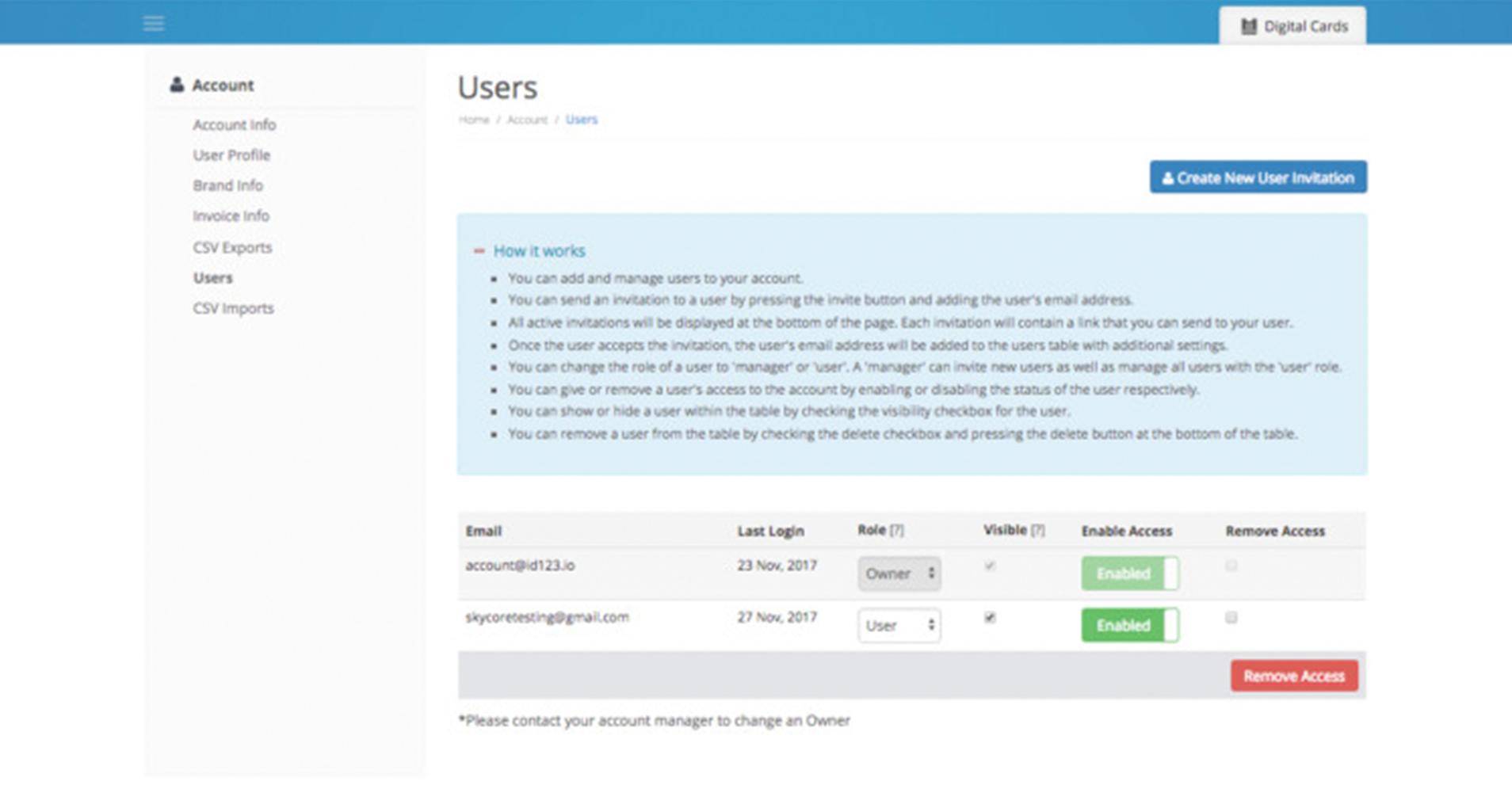Users Screen