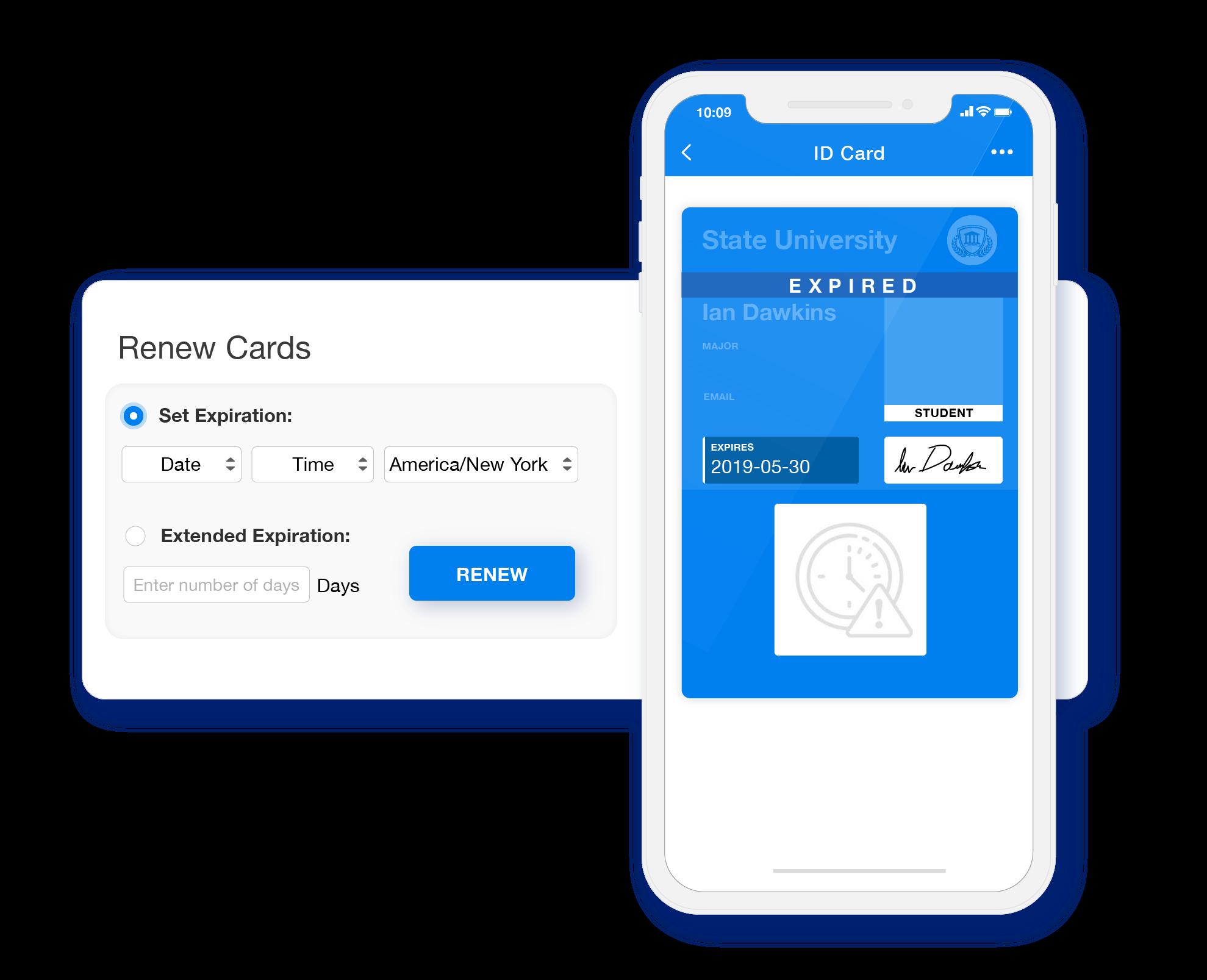 Renew expired digital ID cards