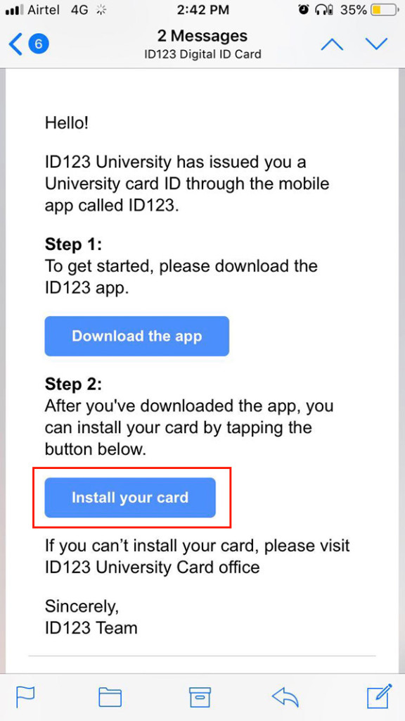 install your card