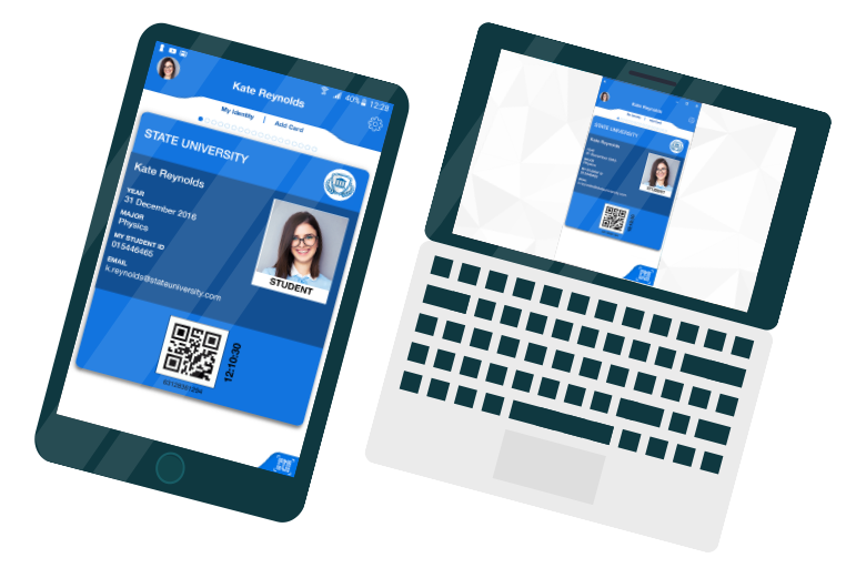 mobile ID card for online students