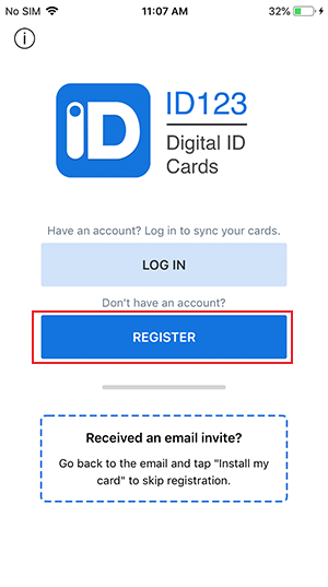 Register with ID123