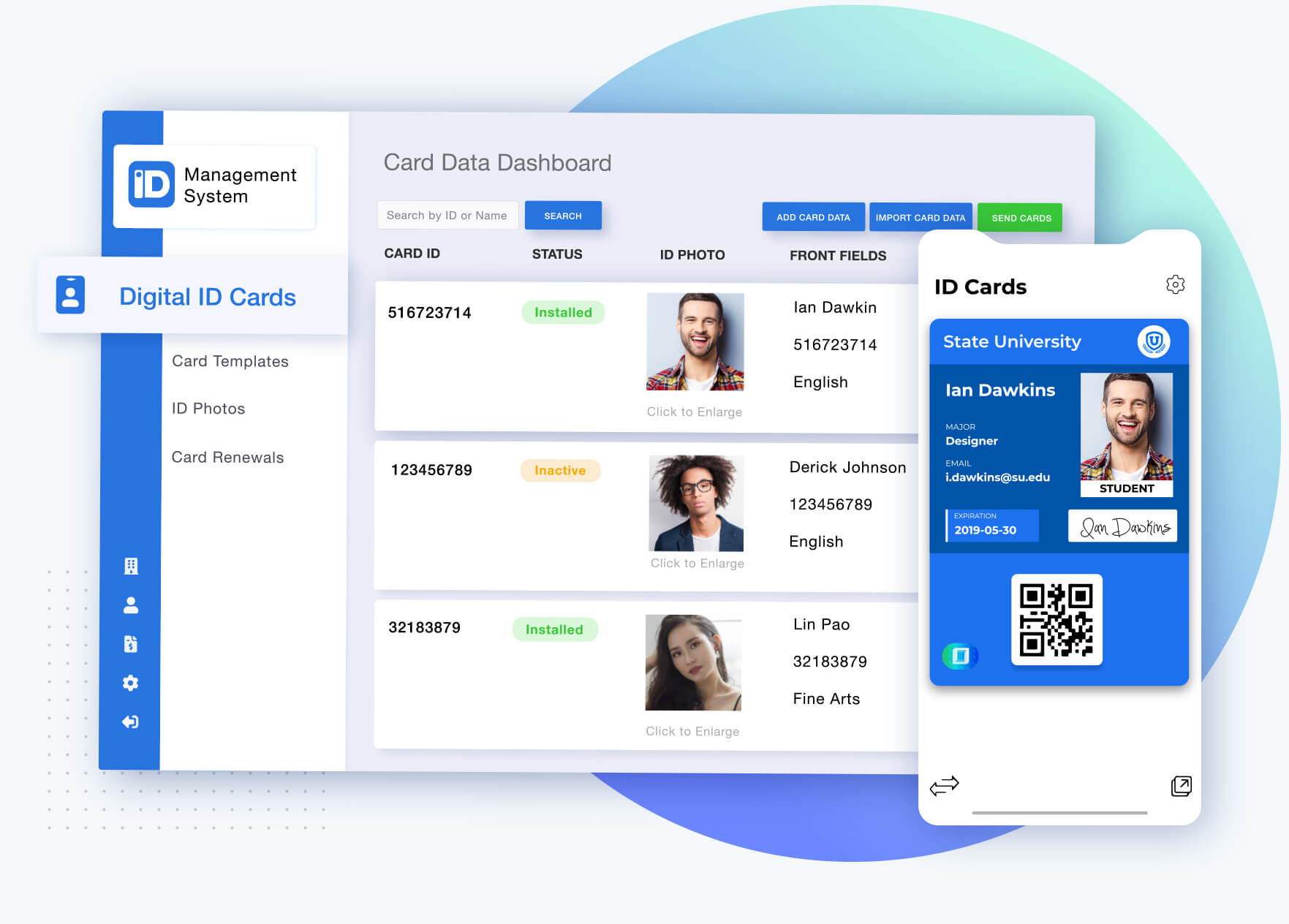 Digital ID card App and Web Platform