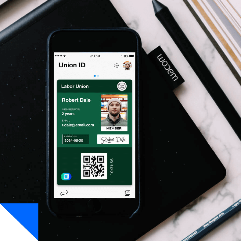 Union ID card app