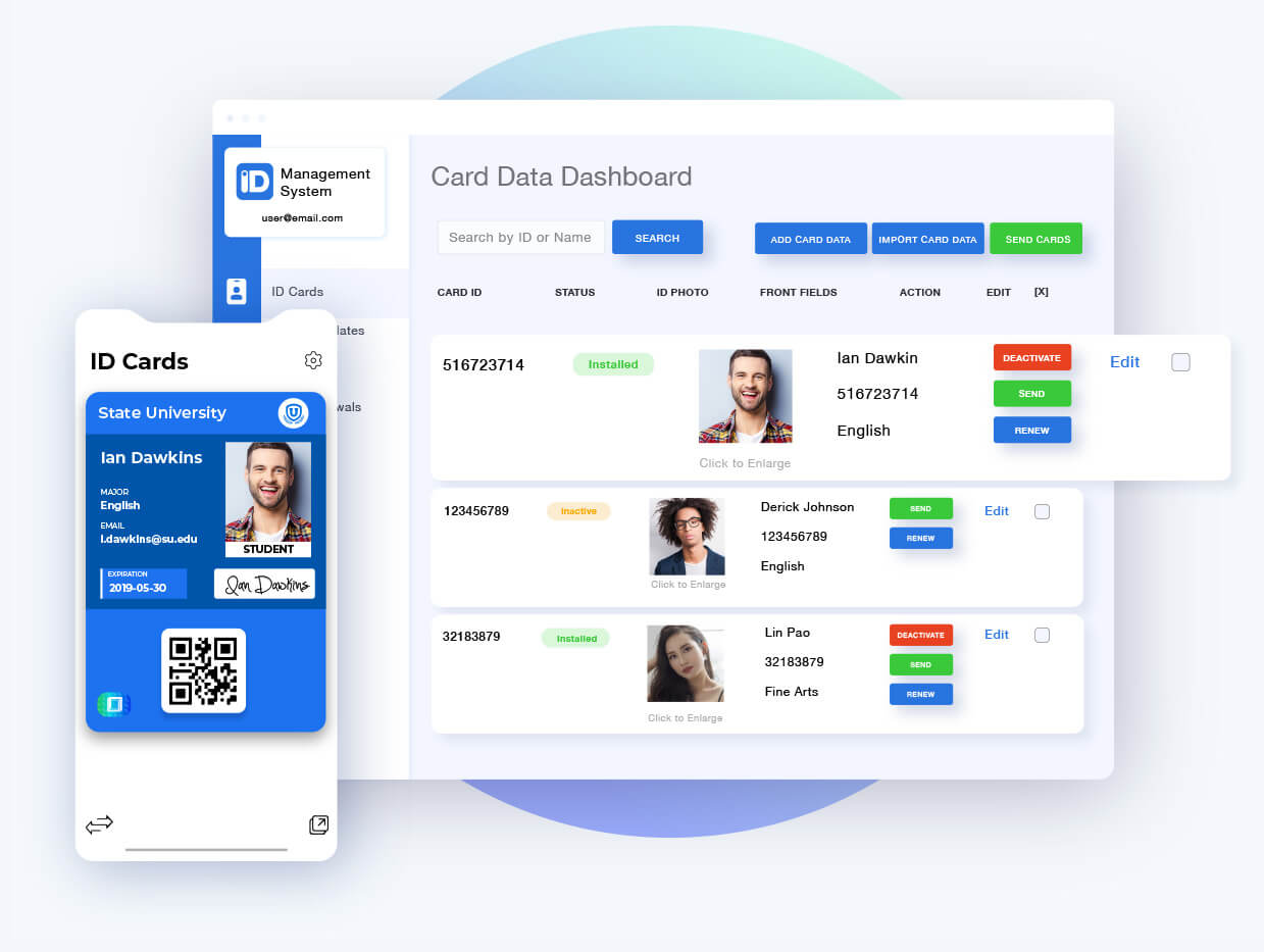 Digital ID Cards and Management System